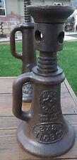 RAILROAD JACK VULCAN BRAND bottle Screw Jack 2 x 8 Vintage II & B Co.FARM JACK