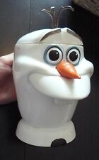 Disney On Ice Olaf Head Cup Mug Hinge Lid with Handle Frozen