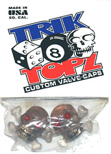 Trick Top Schrader Valve Caps / Clear Skulls NEW!