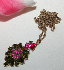 GORGEOUS CROWN TRIFARI SIGNED PENDANT WITH CHAIN-RARE AND EXCELLENT!!!!