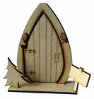 3D Opening fairy door with tree wooden craft blank / shape - Elf on the Shelf