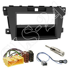 Mazda CX-7 Facelift 2-DIN Radioblende+Fach ISO Adapterkabel Antenne Stecker Set
