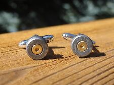 .223 Caliber Cufflinks -- Ammo Ammunition Steel Bullet