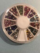 decoracion para uñas en forma cuadrada