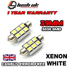 Canbus 6 SMD White 39mm LED Festoon Bulbs ,Number Plate, BMW E39, E46, E60, E90