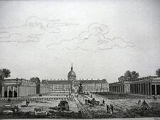 GRAVURE ANCIENNE 19e - 10 SEPTEMBRE 1798 1ere  EXPOSITION PRODUITS 'INDUSTRIE