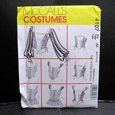 McCalls Costume Renaissance Tops Corsets Cosplay Steampunk Sewing Sz 6 8 10 12