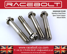 Kawasaki ZX10R Front Caliper Mount Bolts - Racebolt Stainless Steel Race Spec