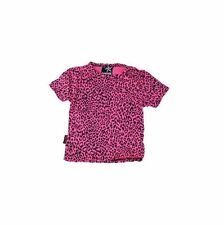 Darkside Clothing ROSA Leopardo Animal Print GLAM MAGLIETTA KIDS 2-3 Anni