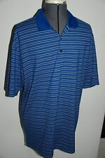 MENS SIZE LARGE NIKE FIT DRY POLO SHIRT POLY BLEND PULLOVER NICE!