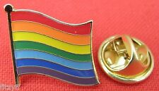 Rainbow Flag Lapel Pin Badge Multicoloured Peace Unity and Diversity Symbol Sign