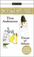 Titus Andronicus; Timon of Athens by William Shakespeare (2005, Paperback)