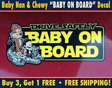 Baby on Board - Starwars Baby Han Solo and Chewbacca Car Bumper Sticker