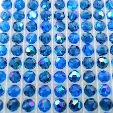 Swarovski Crystal 5000 7mm Round Beads - CAPRI BLUE AB (24 PCS)