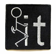 F**k It Iron On Patch- Novelty Funny Badge Embroidered Applique Sew Patches
