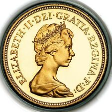 1981 Queen Elizabeth II Great Britain Gold Proof Sovereign Coin