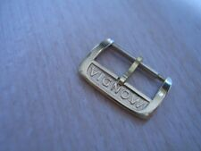 VINTAGE NOS 14MM MONDIA YELLOW GOLD PLATED WATCH BUCKLE                    #6098