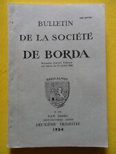 Société de Borda n° 394 1984 Landes Pays de Born Marensin syndicat des gemmeurs