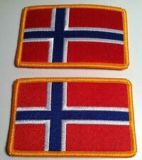 2 NORWAY Flag Patch with VELCRO® brand fastener Biker Military Emblem #5