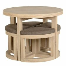 Cambourne Stowaway Dining Set Light Sonoma Oak