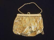 vintage retro gold art deco glomesh shoulder evening bag park lane