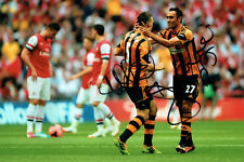 Ahmed ELMOHAMADY & James CHESTER Signed Autograph 12x8 Hull City Photo AFTAL COA