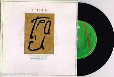 "T'PAU - HEART AND SOUL - 7"" 45 VINYL RECORD w PICT SLV - 1987"