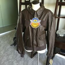Brand New! Cooper A-2 Flight US Air Force Bomber Leather Goatskin Jacket 46R XL