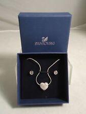 SWAROVSKI JEWELRY, HEART: SET RHS NECKLACE & EARRINGS SET, #5030705, NEW IN BOX