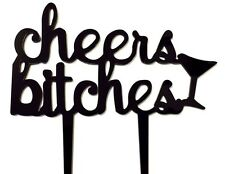 Cheers Bitches Bachelorette Party Girls Night Cake Topper Decoration Bar Sign