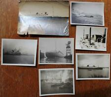NORTH GERMAN LLOYD NDL LINE 7X ORIGINAL UNPUBLISHED SS BREMEN EUROPA PHOTOS