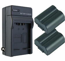 Replacement Panasonic CGR-S006A/1B Battery (2-Pack) & Charger Set