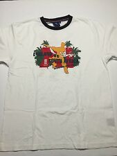 Licensed ECB England Cricket England vs South Africa 2008 Ringer T-shirt size XL