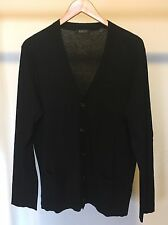 DKNY Men's Black Cashmere Cardigan