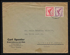 1931 Germany Starnberg to USA Advertising Airmail Eagles