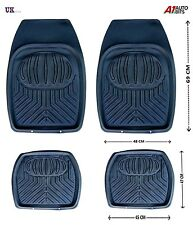 BLACK RUBBER MATS TRAY SET NON SLIP GRIP VW GOLF MK 3 MK 4 5 PASSAT JETTA