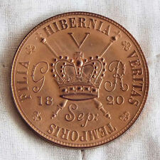 IRELAND GEORGE IIII 1820 COPPER PROOF PATTERN CROWN
