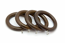35mm Dia Elegance Wooden Curtain Rings - Antique Walnut - Pack Of 4