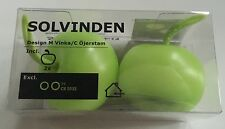 New IKEA Solvinden Set 2 Green Apple LED Lights Battery 002.971.95 Free Shipping