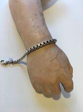 "Authentic Tiffany &Co Sterling Silver 925 Venetian Box Link Chain Bracelet 7.5"""