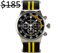Nautica Men NST Chronograph Tachymeter 3 Sub Dials Diver Sports Nylon Band Watch