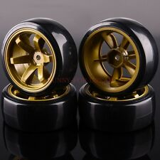 RC Racing Speed Drift Tires Wheel Rim & Tyres 6MM Offset HSP 705-5003 1/10 4P