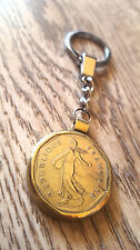 France Coin Vintage Keychain Semeuse Accessories Pendant Necklaces Gift Coins 2
