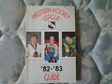 1982-83 WESTERN HOCKEY LEAGUE MEDIA GUIDE Yearbook 1982 1983 WHL '82-'83 Book AD