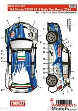 1/24 2014 Skoda S2000 San Remo Rally #211 decal set by Studio 27 ~ DC1087