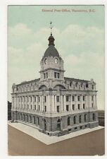 Canada, General Post Office Vancouver B.C. 1910 Postcard, B167