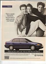 Original 1991 Toyota Tercel Magazine Ad - Sure a Career's Important...
