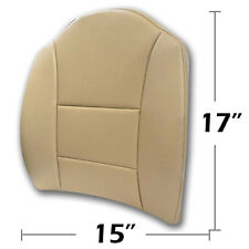 "BIG SIZE 15""X17"" S.LEATHER LUMBAR SUPPORT BACK CUSHION FOR ALL PURPOSE BEIGE"