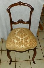 Walnut Carved Victorian Sidechair / Parlor Chair  (SC242)