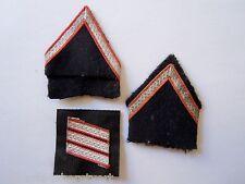 Lot 3 insignes Grades Galons SAPEURS POMPIERS ancien OBSOLETE ORIGINAL FRANCE 2